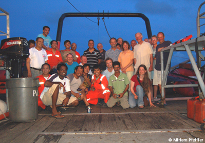 Expedition team on the Pacific Marlin