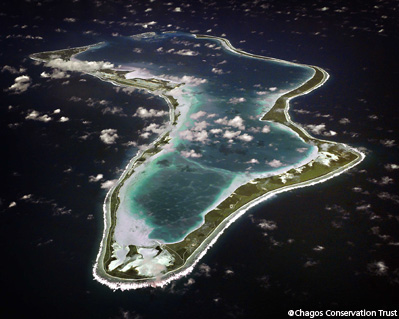 Aerial photo of Diego Garcia